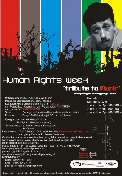 "poster lomba poster ""Human Rights Week"""